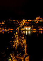 Charles Bridge and Prague Castle from Powder Tower