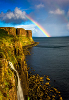 Mealt Falls and Rainbow - Isle of Skye, Scotland