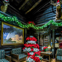 El Tovar Hotel Decorated for the Holiday Season