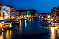Grand Canal at Dusk from Rialto Bridge
