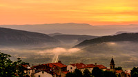 View from Motovun Wall at Sunrise