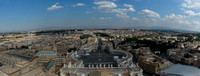 Rome view from St. Peter's Basilica Dome