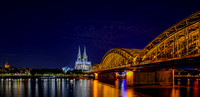 Cologne Cathedral and Hohenzollern Bridge over the Rhine River