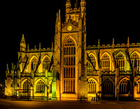 Bath Abbey at Night - Bath, England