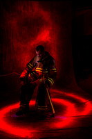 Portrait Light Painting of a Fireman